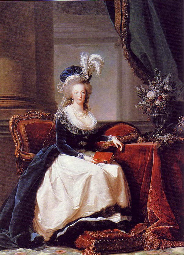 Seated Marie Antoinette with Rose