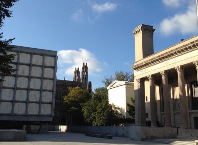 Classical and Modern architecture meet at Yale