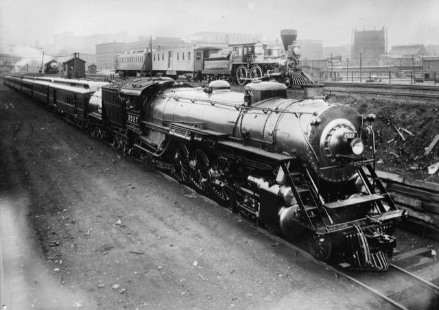 Train travel in 1924
