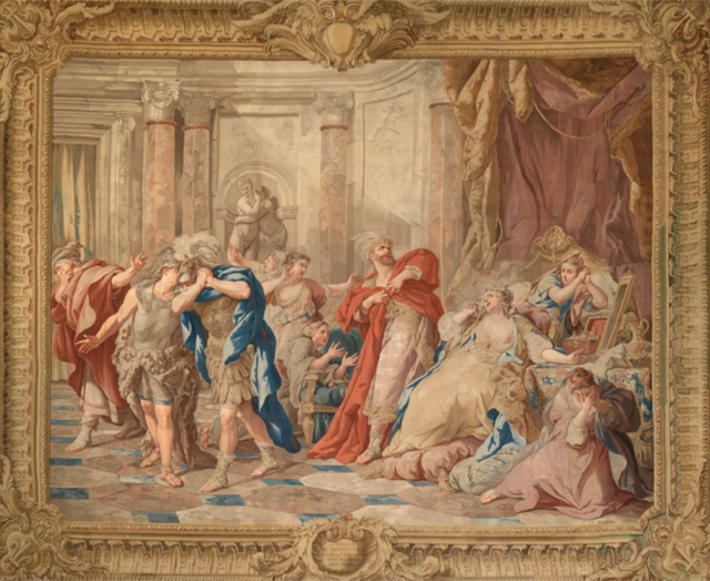 The tapestry depicting Creuse Burned to Death