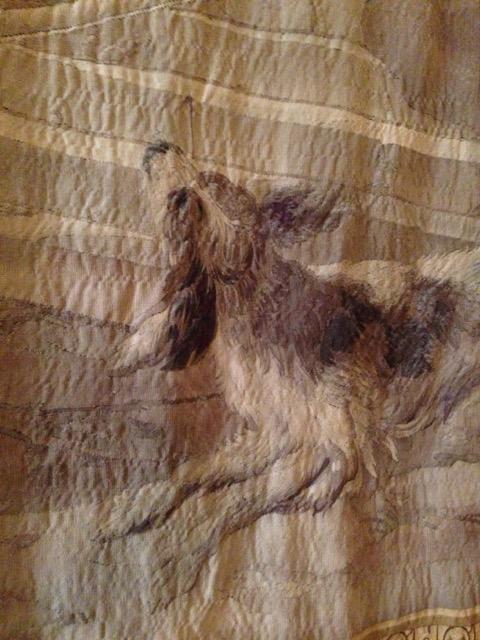 Dog in Jason Medea Story tapestry