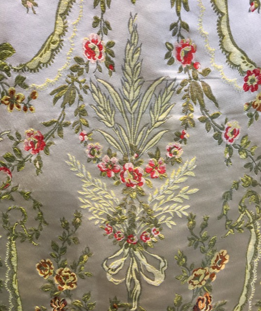 An embroidered silk fabric in the EsseDecor Collection