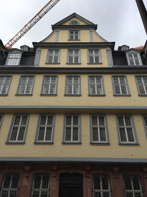 The front exterior of Goethehaus