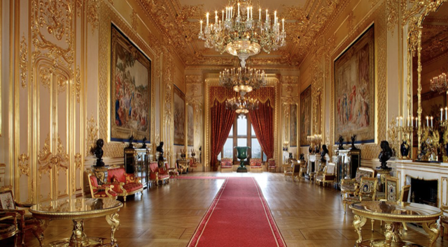 The Grand Reception Room holds Gobelins tapestry