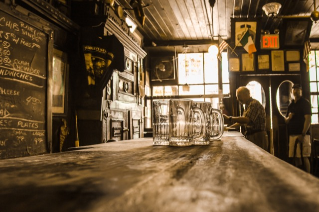 The interior of McSorley's in NYC.