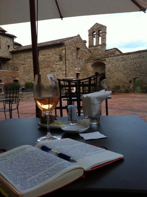Journaling at Castel Monastero