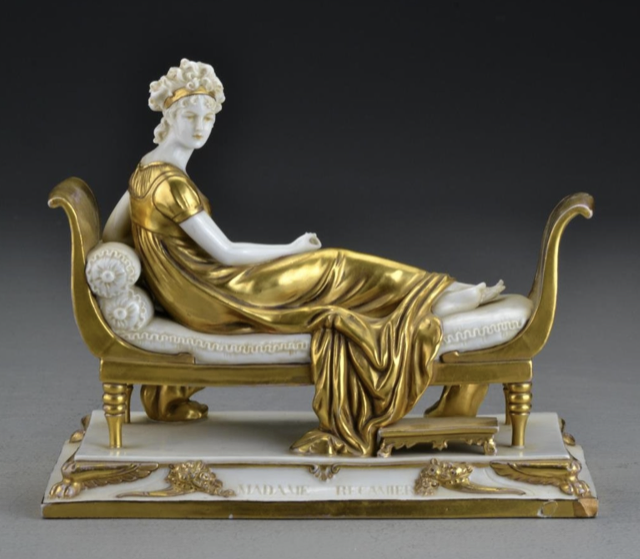 a reclining Madame Récamier in porcelain