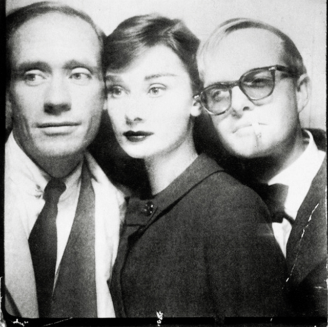 Audrey and Truman with Mel Ferrer (left) in 1956.