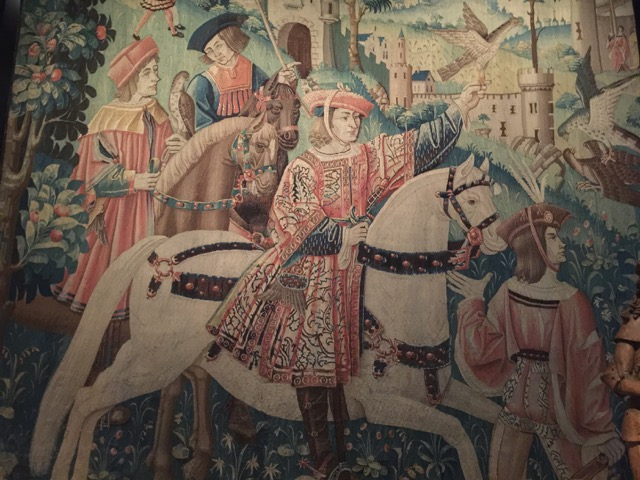 French tapestry from middle ages