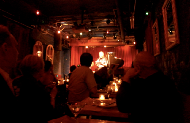 The performance space at the Cornelia Street Café.