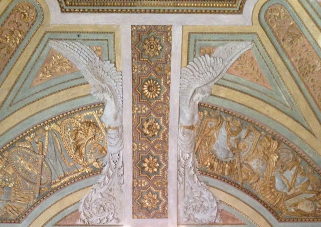Glorious plaster work at the Palazzo Reale