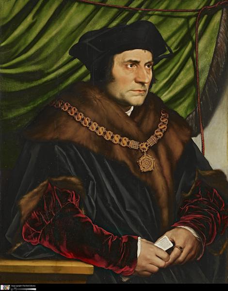Hans Holbein portrait Thomas More