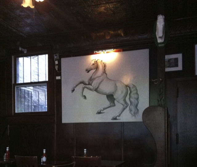 A rainy Sunday afternoon at the White Horse Tavern