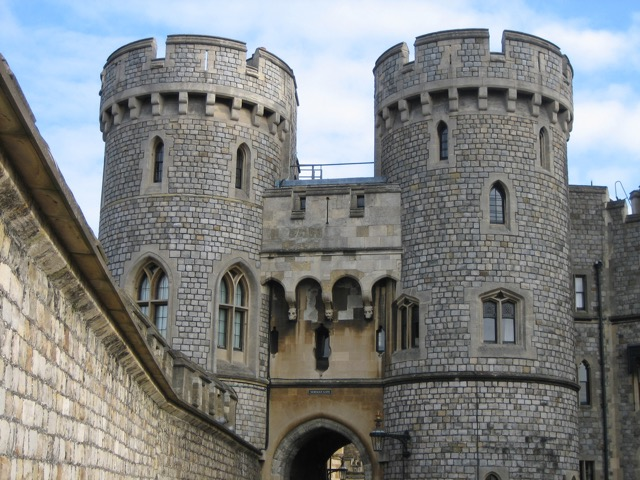 The Norman Gate at Windsor Castle built by Edward III
