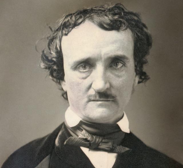 "1849 ""Annie"" daguerreotype of Edgar Allan Poe. Public domain."