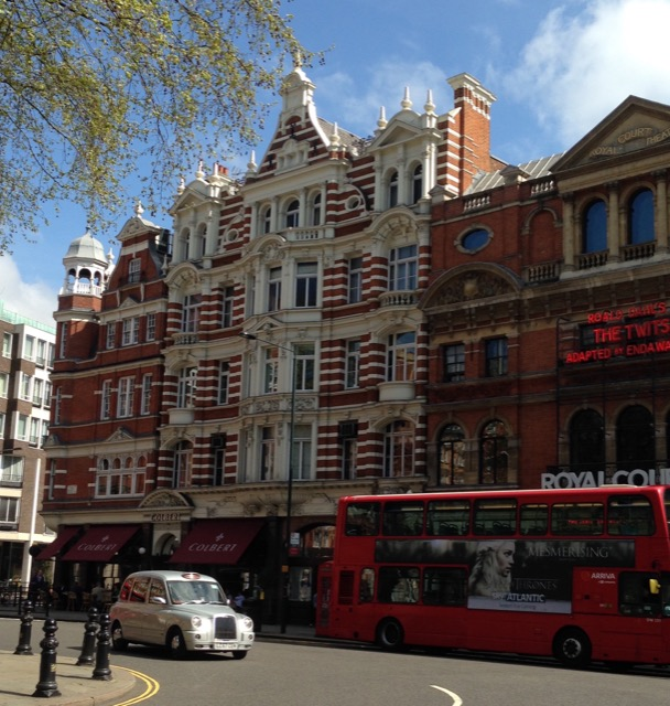 The energy of Sloane Square in London is very different than when the city was decadently yellow. Image © Saxon Henry.