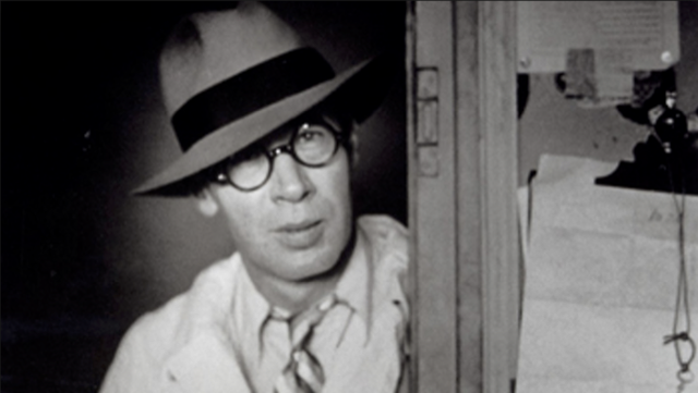 A portrait of Henry Miller in Paris by his friend and biographer Brassai.