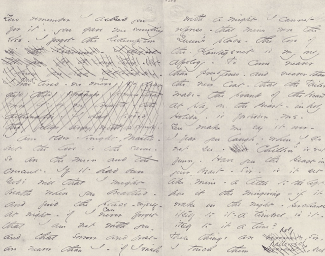 One of the Master Letters written by Emily Dickinson.