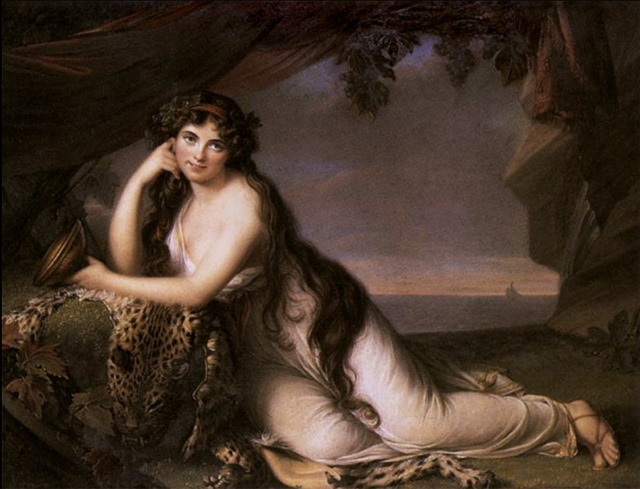Lady Hamilton as Ariadne
