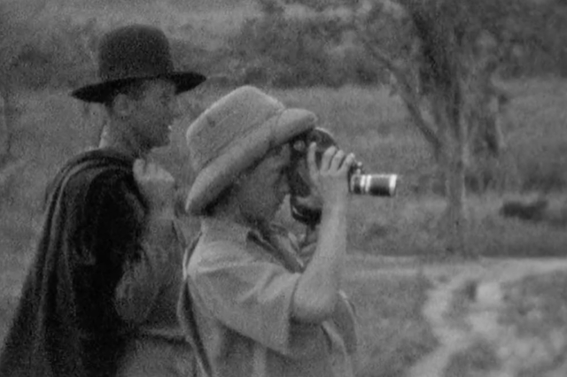 Denys Finch Hattan, left, and the Prince of Wales, right, on safari on the border between Tanganyika and Kenya.