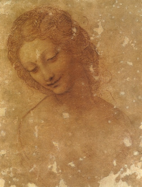 A study for Leda, drawn by Leonardo da Vinci in 1505 in Milan, which is housed in the Castello Sforzesco. Image courtesy WikiMedia.