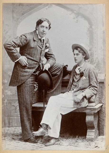 Oscar Wilde and Lord Alfred Douglas in 1893. Image Public Domain.