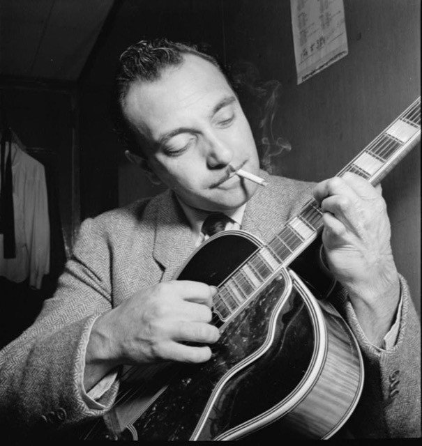 Django Reinhardt was rarely photographed without a cigarette in his mouth!