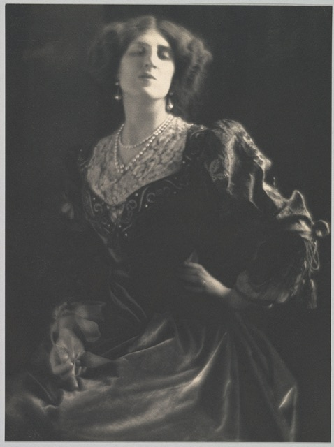Portrait of Ottoline Morrell by Adolf de Meyer taken in 1912. Image courtesy WikiMedia.