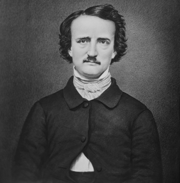 "Poe, in a modern retouched version of the ""Ultima Thule"" daguerreotype. Public domain."