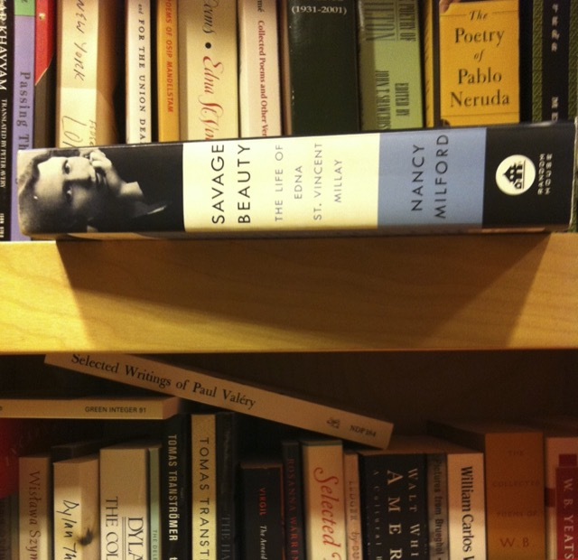 "Finding ""Savage Beauty"" by Millay on the shelves in a Croton-on-Hudson bookstore. Image © Saxon Henry."