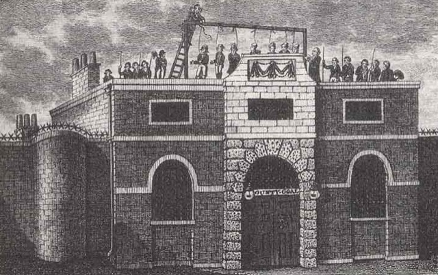 A rendering of Surrey County Gaol.