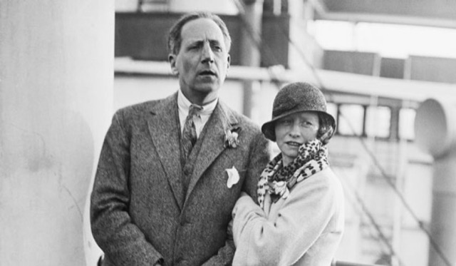 Edna and Eugen aboard a ship in 1924, the year after they married. Image courtesy Edna St. Vincent Millay Society.