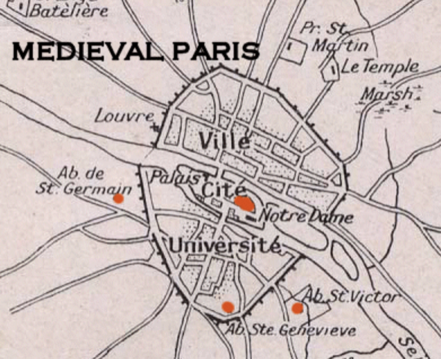 Paris during medieval times.