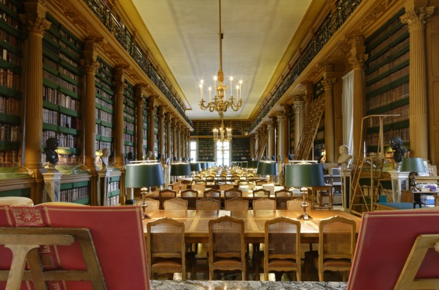 The reading room of the Bibliothèque Mazarine