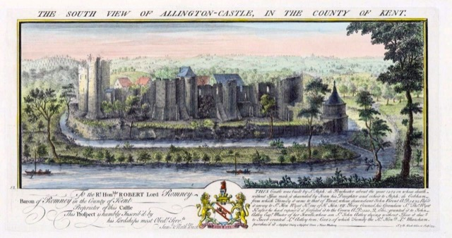 A view of Allington Castle with its medieval architecture during the Middle Ages. Image courtesy WikiMedia.