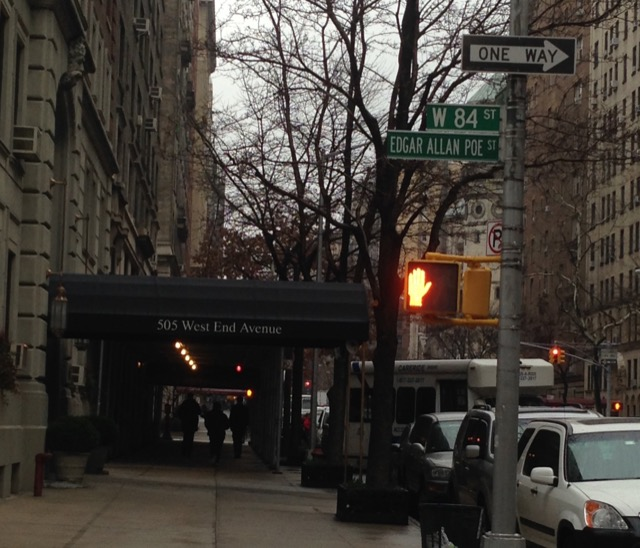 Edgar Allan Poe Street in New York City. Image © Saxon Henry.