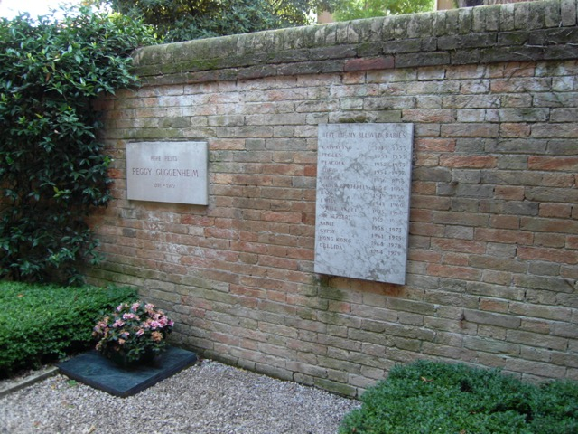 Peggy Guggenheim is buried in the garden of her former palazzo next to her many dogs. Image © Saxon Henry.