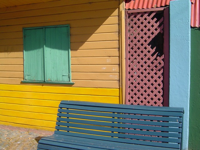 The bright colors of La Boca in Buenos Aires. Image © Saxon Henry.