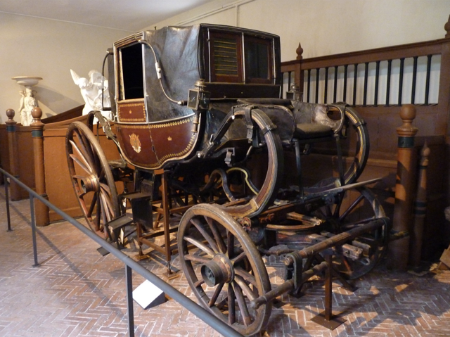 Napoléon's carriage seized at Waterloo on display at Malmaison, image courtesy Flickr and Damian Entwistle.