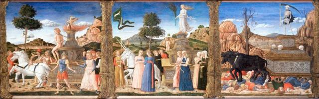 "Girolamo da Cremona's ""The Triumphs of Petrarch."" Image courtesy the Google Art Project."