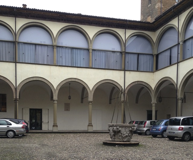The courtyard of the Bishop's Palace in Parma. Image © Saxon Henry.