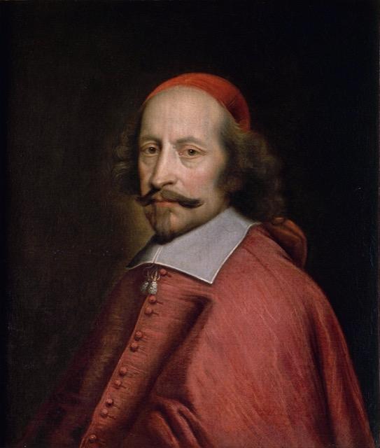 Portrait of Cardinal Jules Mazarin by Pierre Mignard.