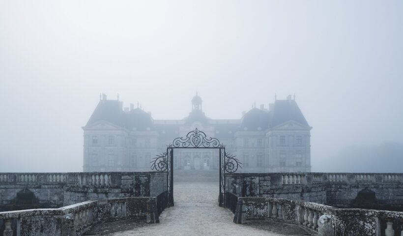 Vaux-le-Vicomte in a misty fog