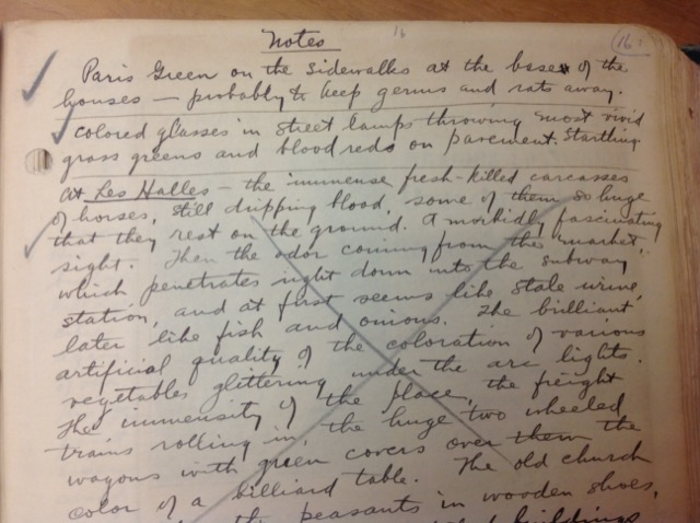 More Paris notes from Henry Miller's diaries. Image © Saxon Henry.
