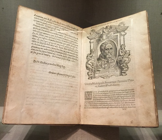 Vasari's Life of Michelangelo, one of the Renaissance books on display at the NGA. Image © Saxon Henry.