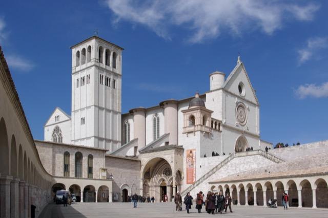 The Basilica at Assisi. Image courtesy WikiMedia.