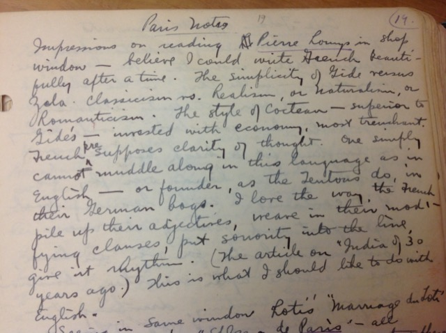 Henry Miller recorded notes about what he was reading in his Paris Diaries. Image © Saxon Henry.