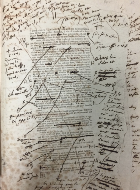 An example of a page edited by Balzac.