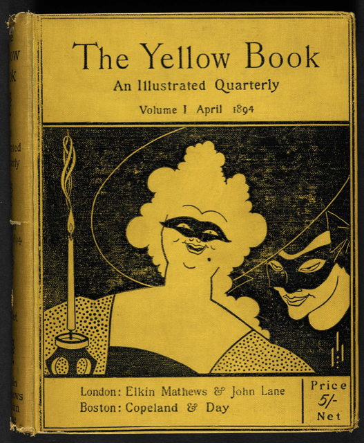 The Yellow Book, Volume 1, April 1894, with the cover by Aubrey Beardsley. Image courtesy the British Library.