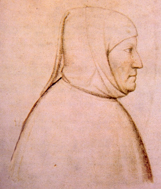 A drawing of Petrarch, creator unknown.